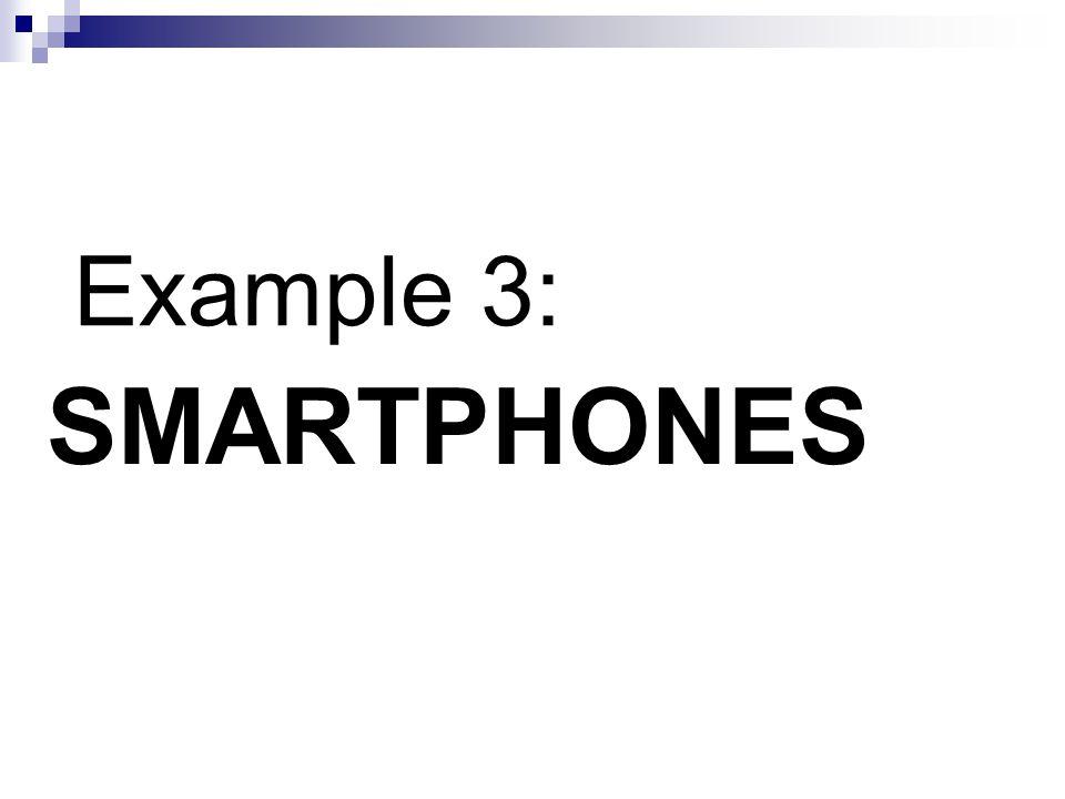 SMARTPHONES Example 3: