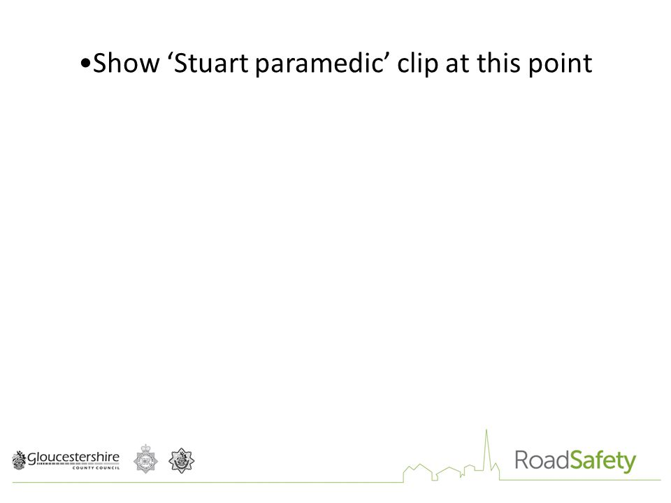 Show 'Stuart paramedic' clip at this point