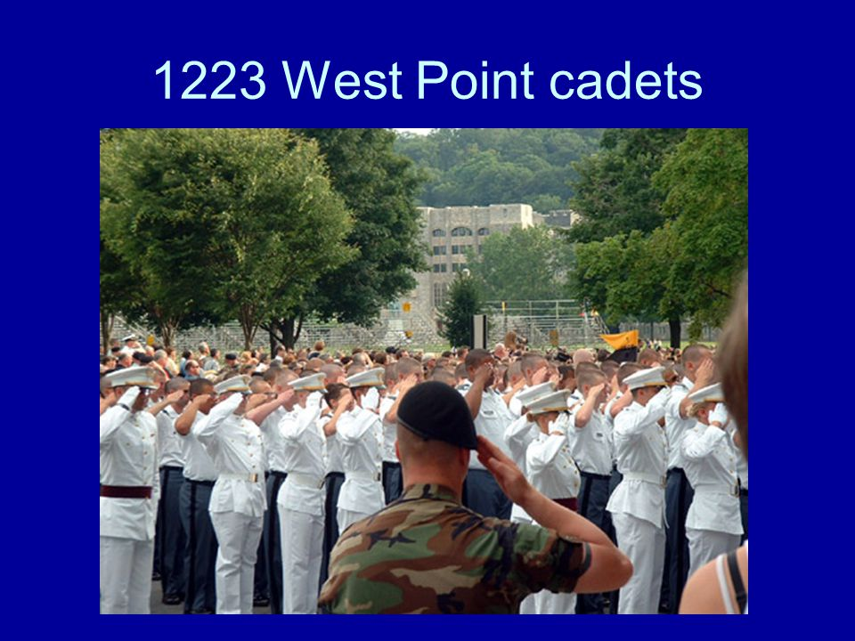 1223 West Point cadets