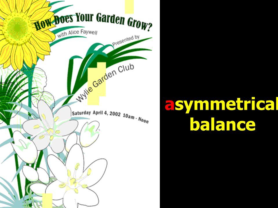 asymmetrical balance