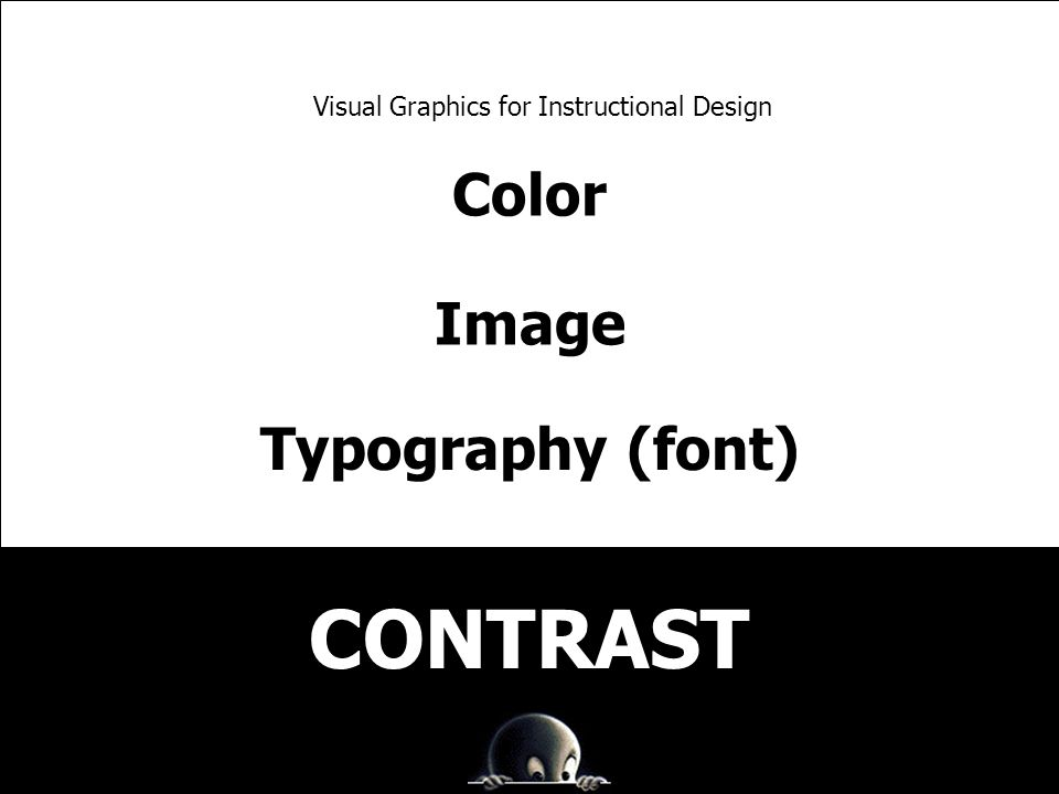 Color Image Typography (font) Visual Graphics for Instructional Design