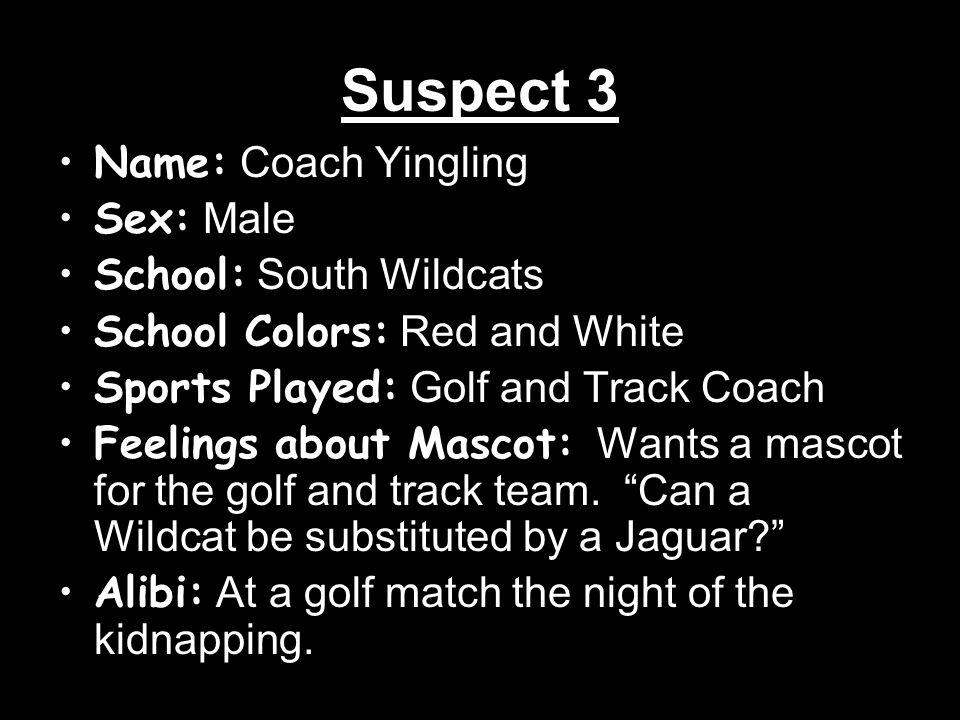 Suspect 4 Name: Mrs.