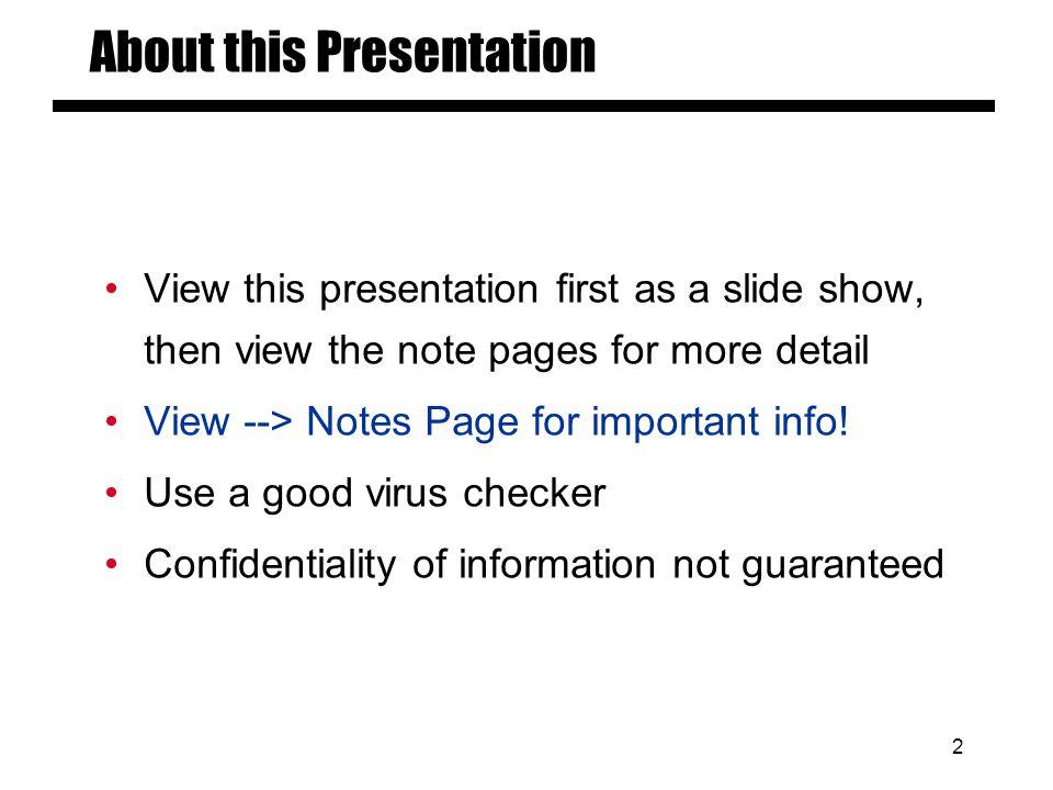 Slide # 1 Electronic Presentation Guidelines for Author Talks