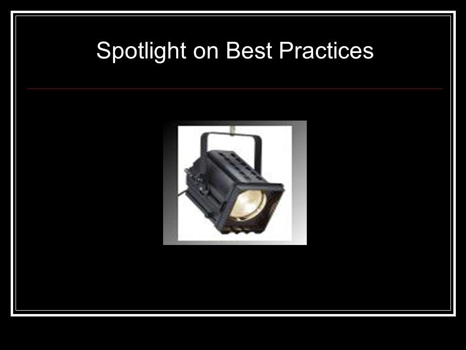 Spotlight on Best Practices