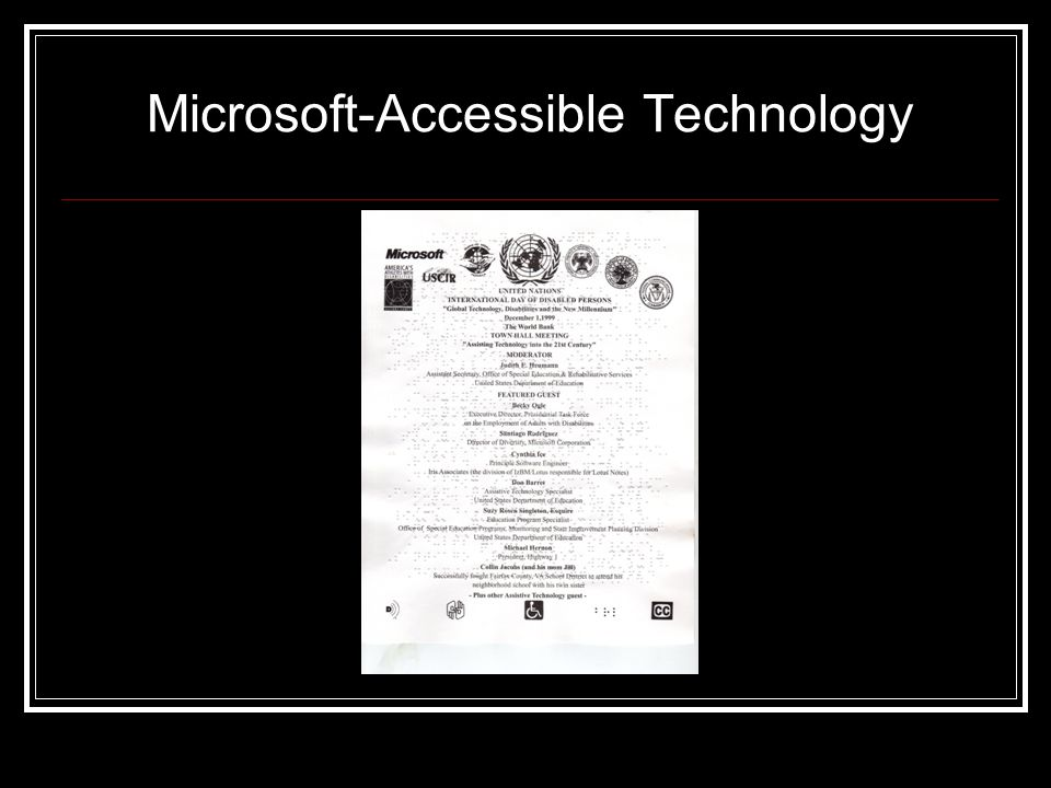 Microsoft-Accessible Technology