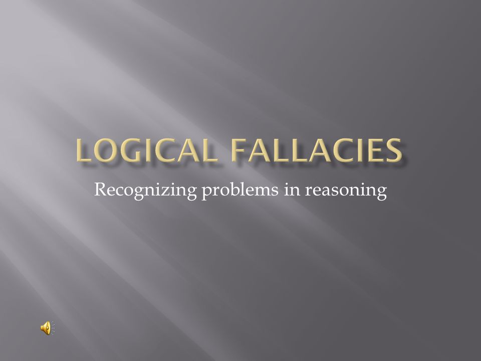 Recognizing problems in reasoning