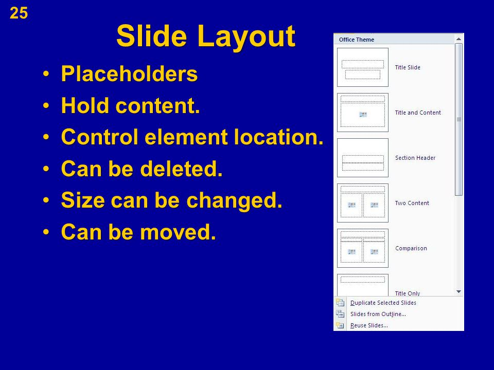 PlaceholdersPlaceholders Hold content.Hold content. Control element location.Control element location. Can be deleted.Can be deleted. Size can be chan