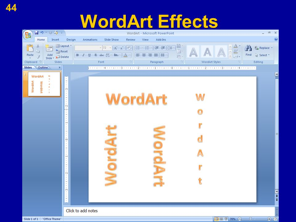 WordArt Effects 44