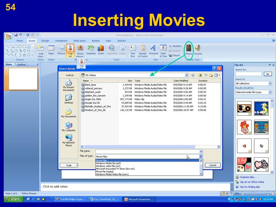 Inserting Movies 54