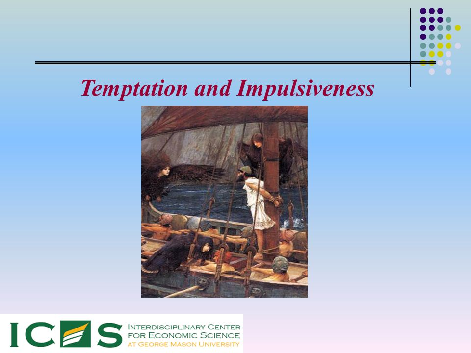 Temptation and Commitment in the Laboratory Daniel Houser ∙ Daniel Schunk Joachim Winter ∙ Erte Xiao
