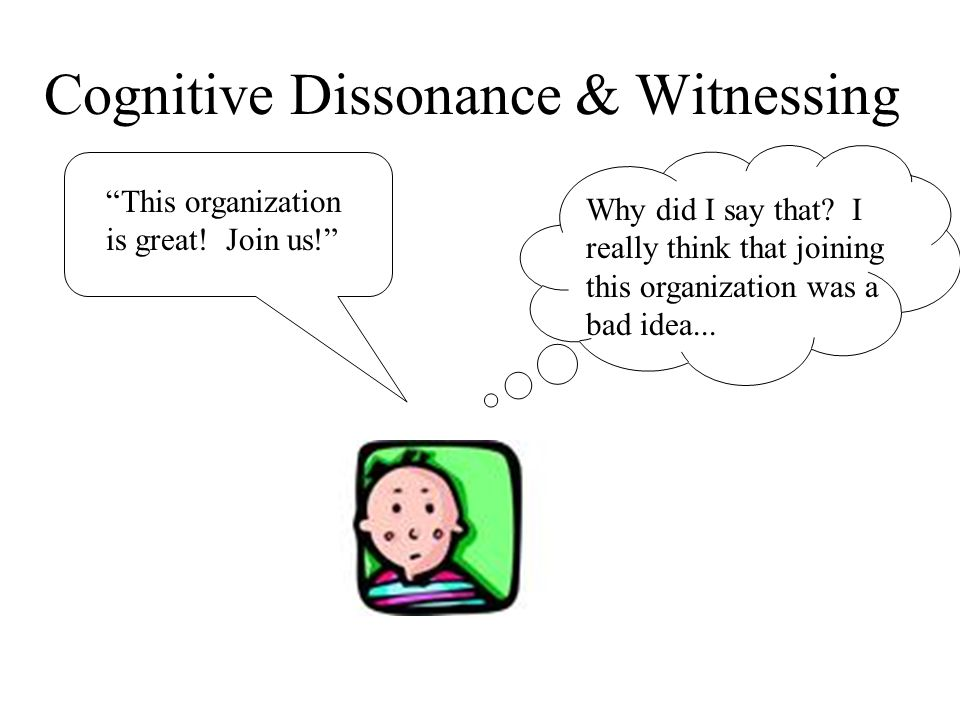 Cognitive Dissonance & Witnessing Why did I say that.