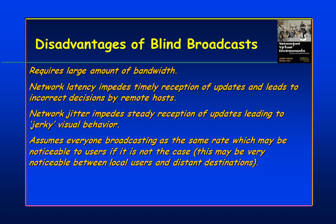 Disadvantages of Blind Broadcasts Requires large amount of bandwidth.