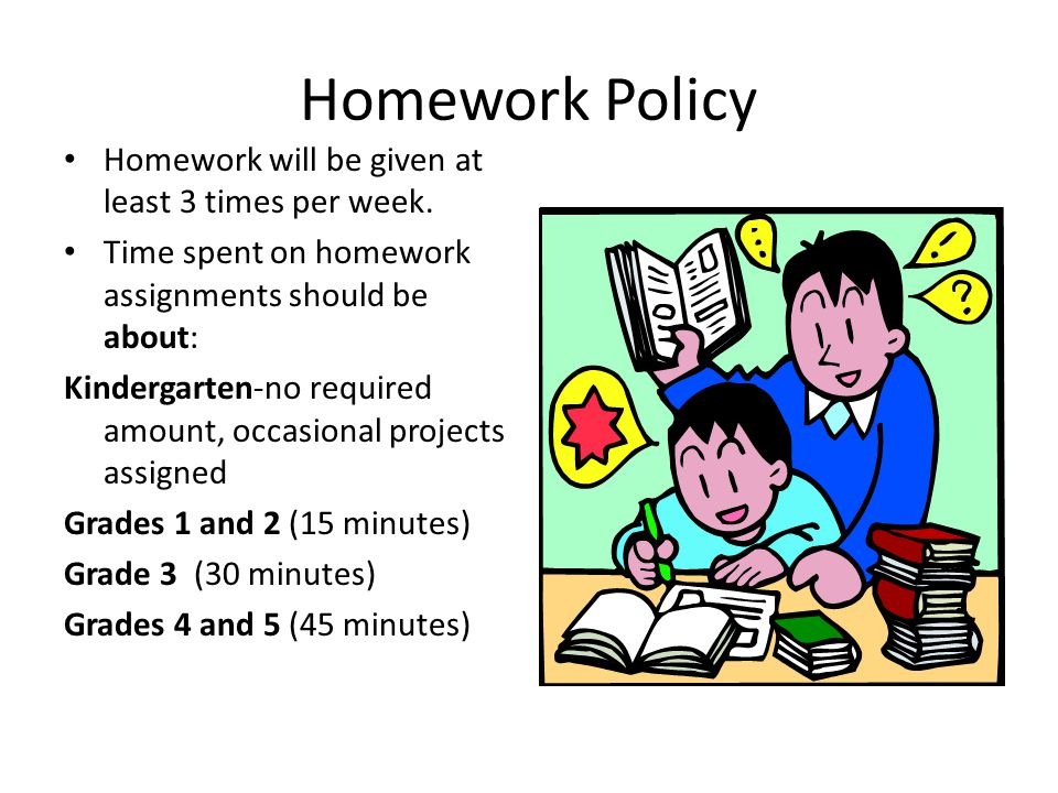 Homework Policy Homework will be given at least 3 times per week.