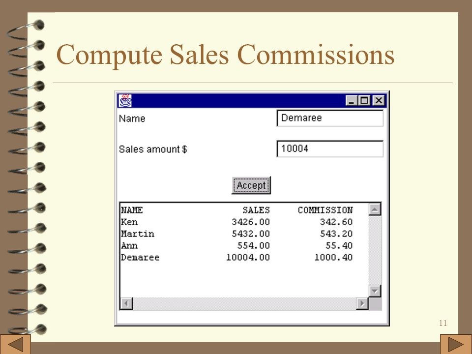 11 Compute Sales Commissions