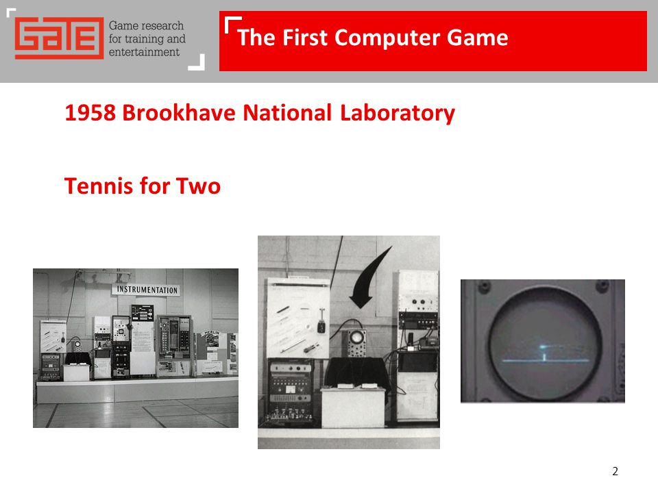 2 The First Computer Game 1958 Brookhave National Laboratory Tennis for Two