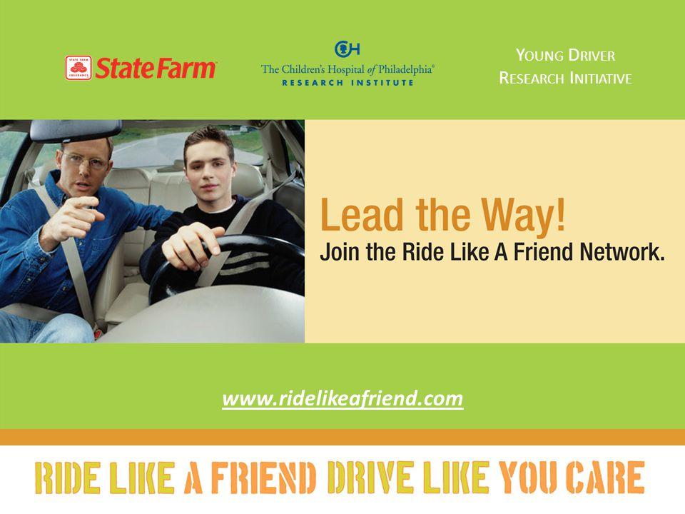 www.ridelikeafriend.com Y OUNG D RIVER R ESEARCH I NITIATIVE
