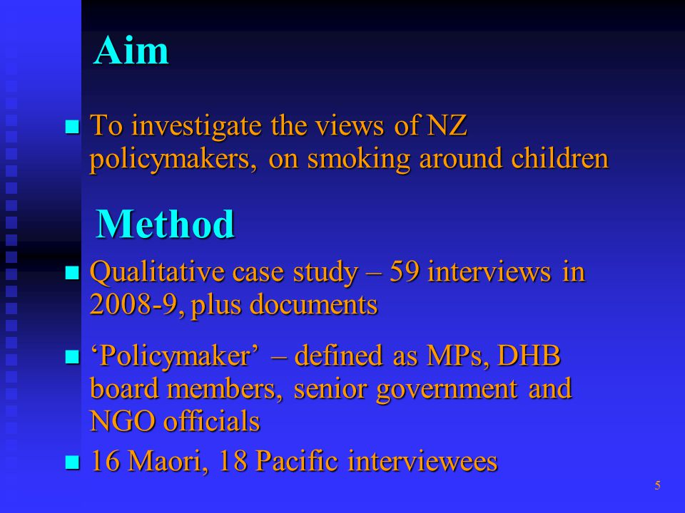 6 Results For both politicians and officials, and across ideologies and ethnicities: For both politicians and officials, and across ideologies and ethnicities: Strong themes of: Strong themes of:  the vulnerability of children (& no choice)  the need for child protection from SHS Very mixed reactions to smokefree car laws Very mixed reactions to smokefree car laws