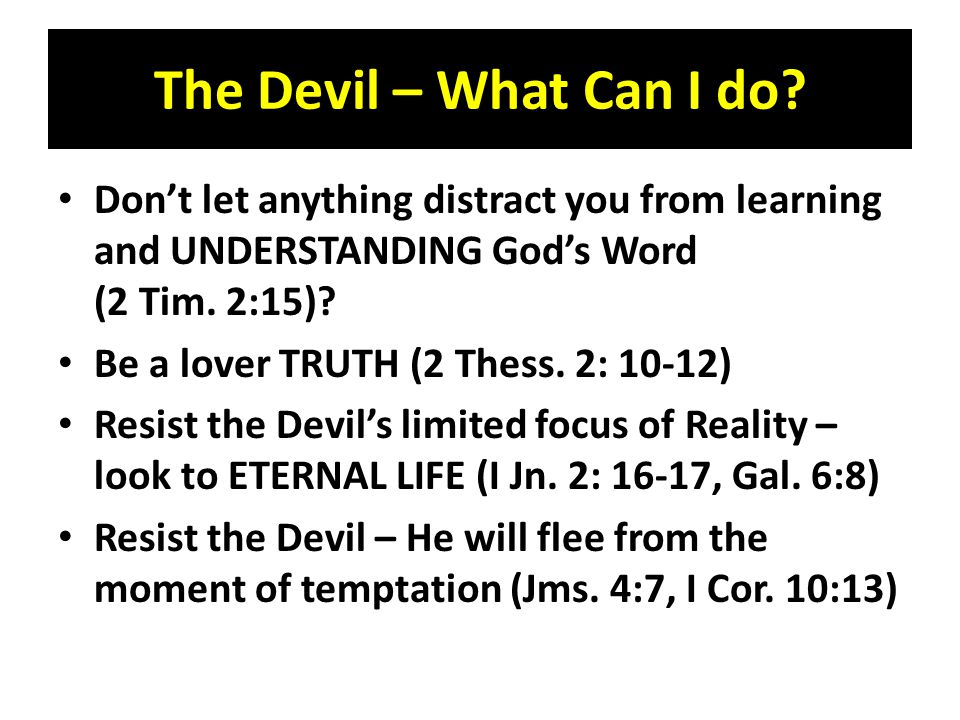 The Devil – What Can I do.
