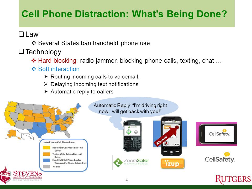 Cell Phone Distraction: What's Being Done.