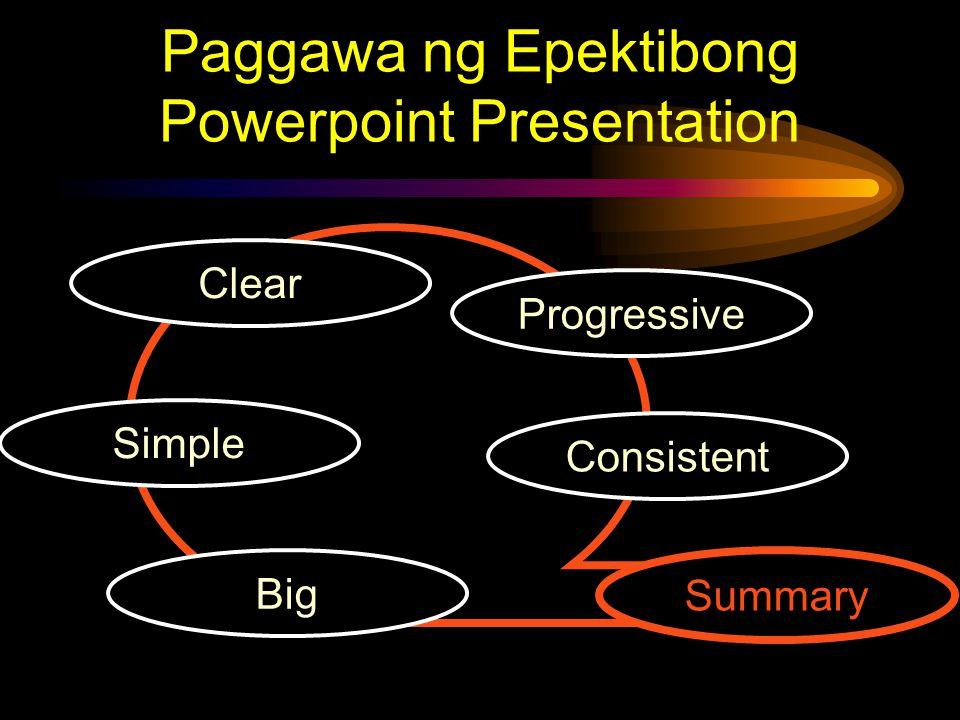 Consistent Clear Simple Progressive Big Summary
