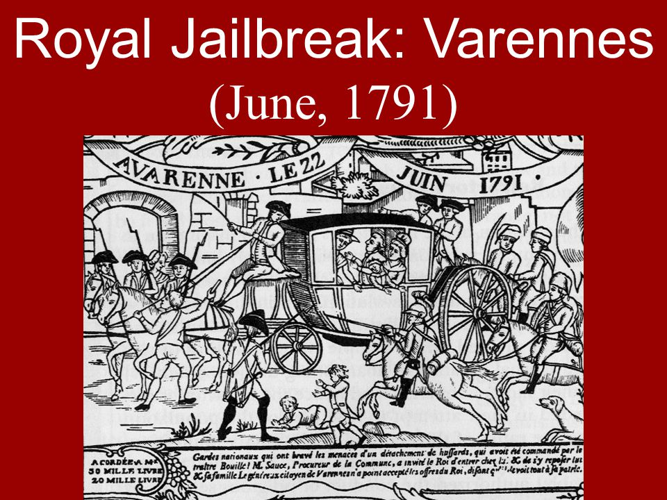Royal Jailbreak: Varennes (June, 1791)