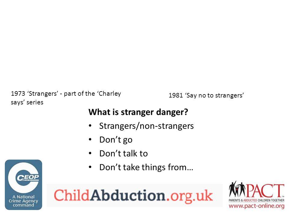 What is stranger danger.