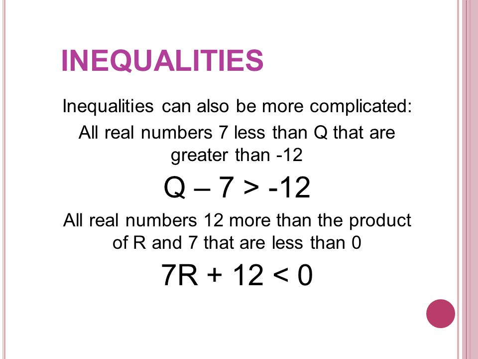 Just like with equations, we can determine whether given numbers are solutions of an inequality, or whether or not they make the statement true.