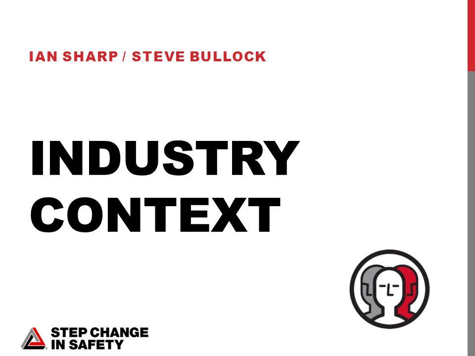 INDUSTRY CONTEXT IAN SHARP / STEVE BULLOCK