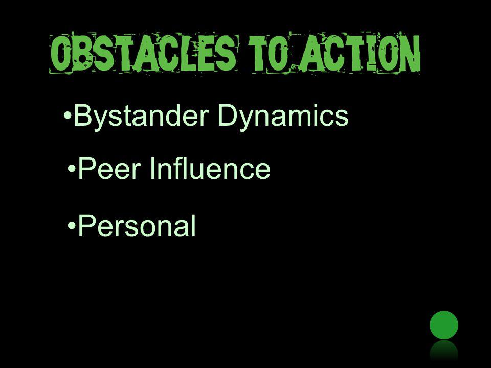 Bystander Dynamics Peer Influence Personal