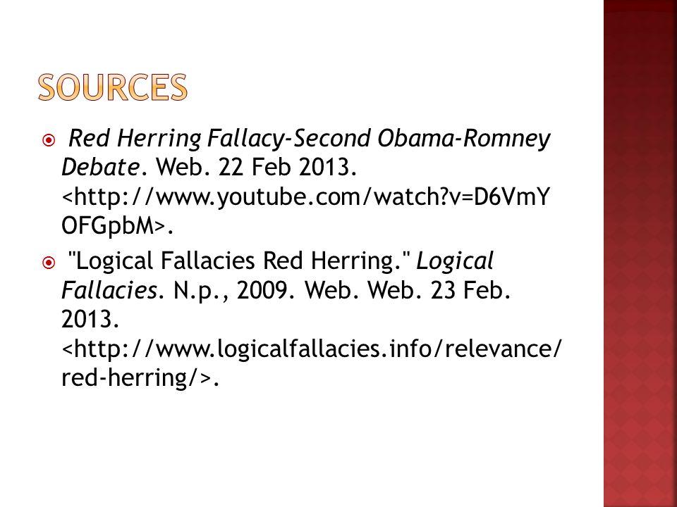  Red Herring Fallacy-Second Obama-Romney Debate. Web.