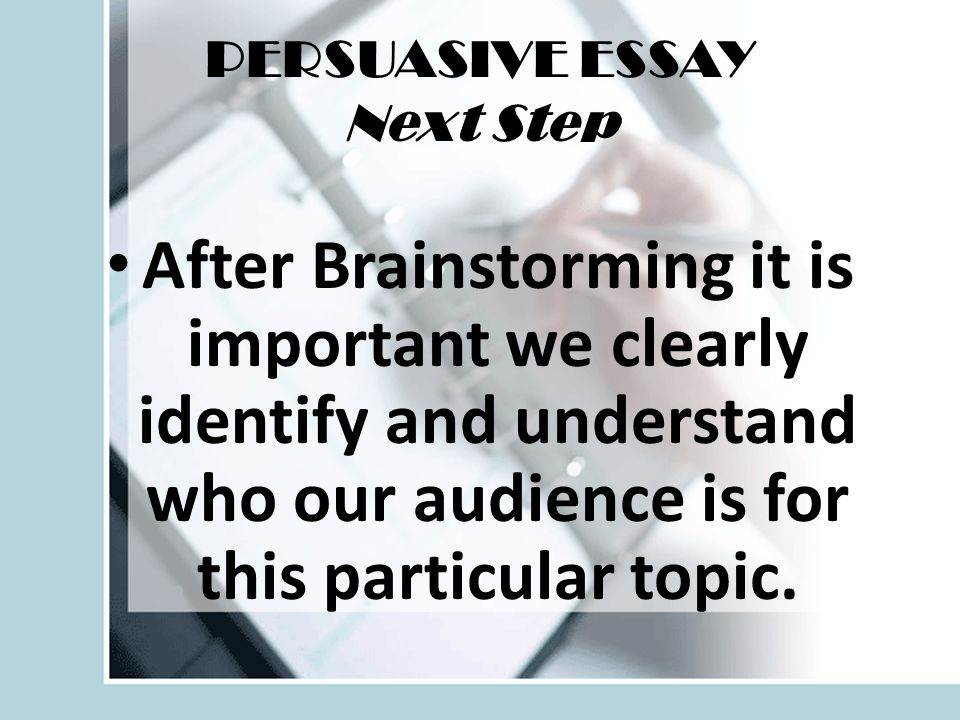 Follow along very closely as we write our persuasive essay together in parts.