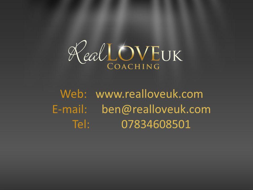 Web: www.realloveuk.com E-mail: ben@realloveuk.com Tel: 07834608501
