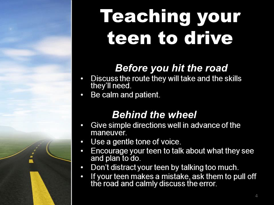 Before you hit the road Discuss the route they will take and the skills they'll need.