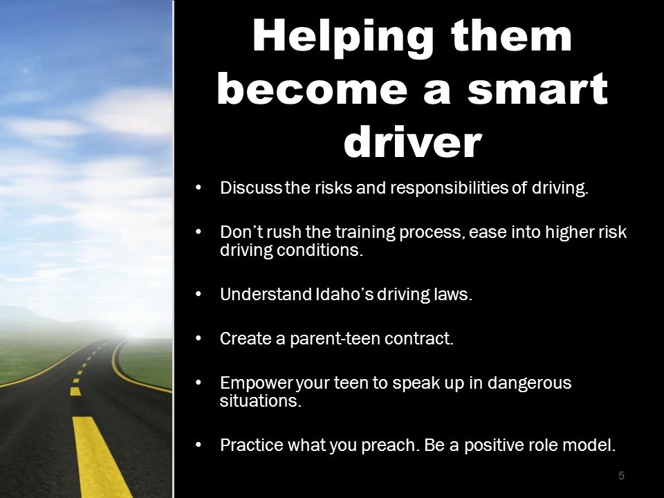 Discuss the risks and responsibilities of driving.