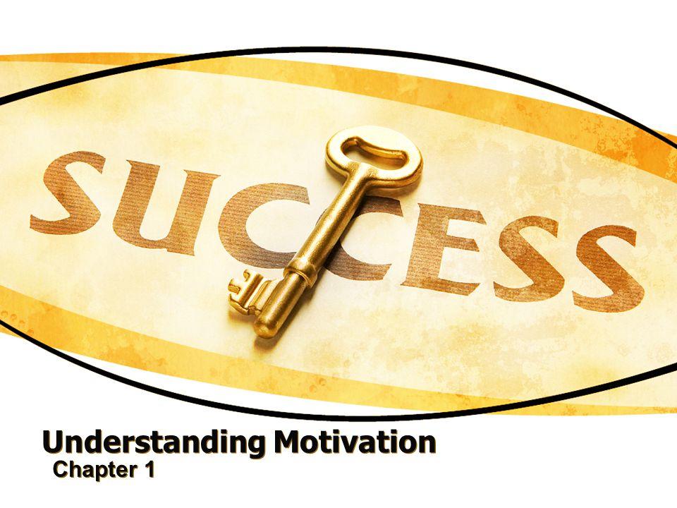 Understanding Motivation Chapter 1