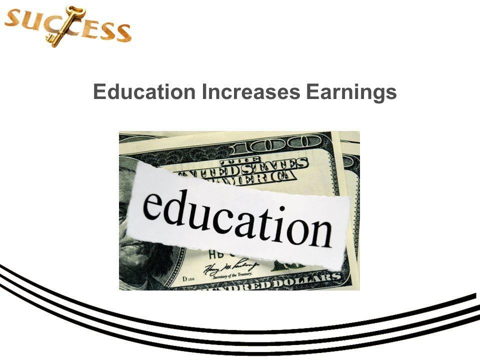 Education Increases Earnings
