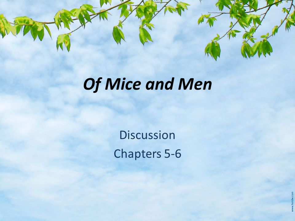 Of Mice and Men Discussion Chapters 5-6
