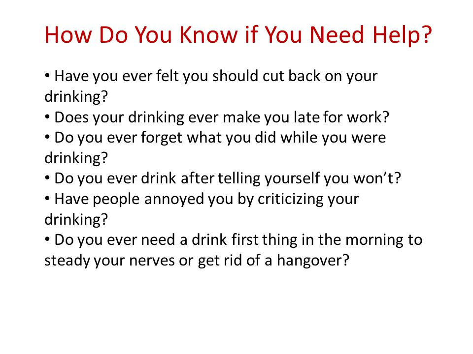 Have you ever felt you should cut back on your drinking.