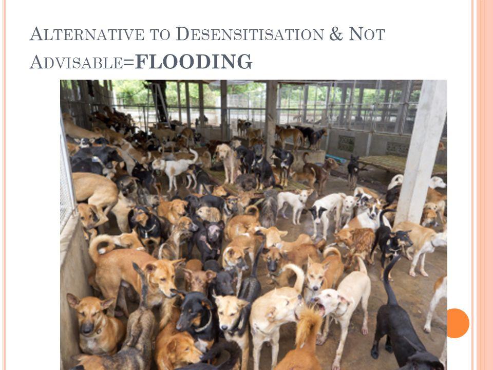 A LTERNATIVE TO D ESENSITISATION & N OT A DVISABLE = FLOODING