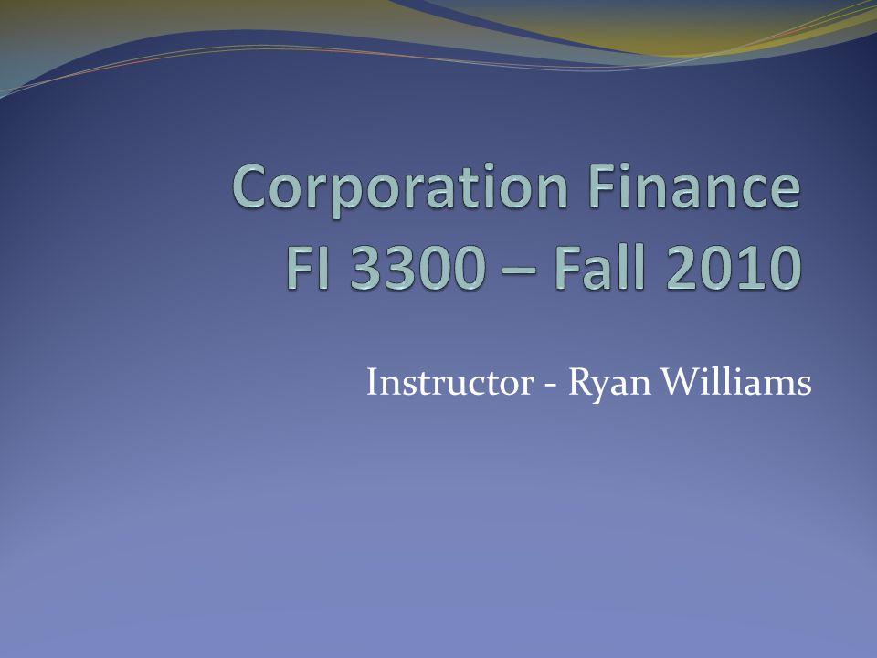 Instructor - Ryan Williams
