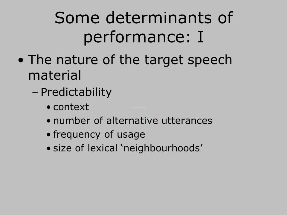 Why is this interesting. Most speech is not heard in quiet, anechoic conditions.