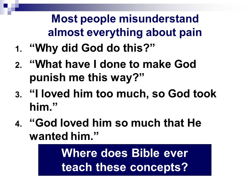 Most people misunderstand almost everything about pain 1.