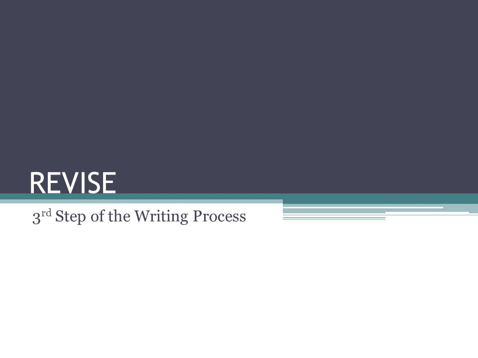The 6 Step of the Writing Process 1)Brainstorm/Prewrite 2)Draft 3)Revise 4)Edit 5)Final Revision 6)Publish