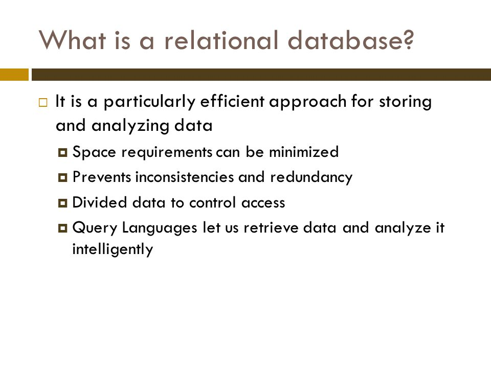 What is a relational database.