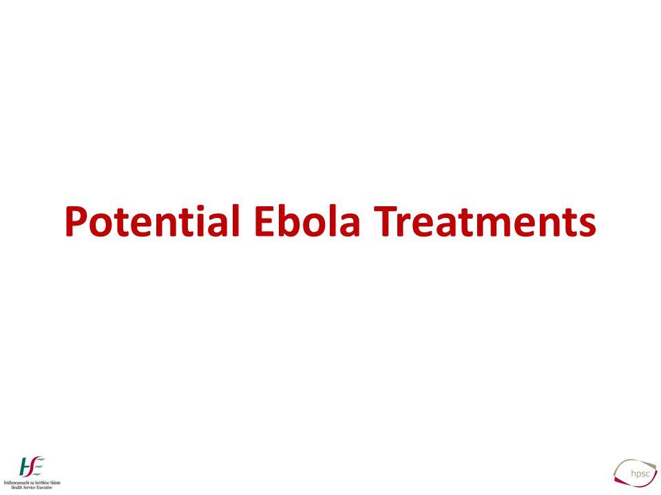 Potential Ebola Treatments