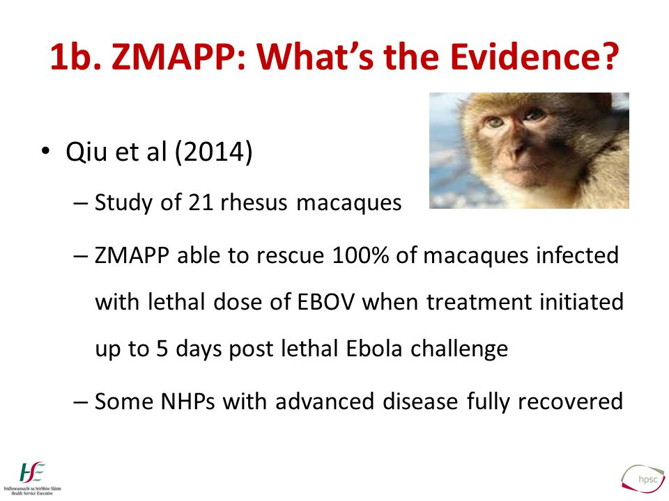 1b. ZMAPP: What's the Evidence.