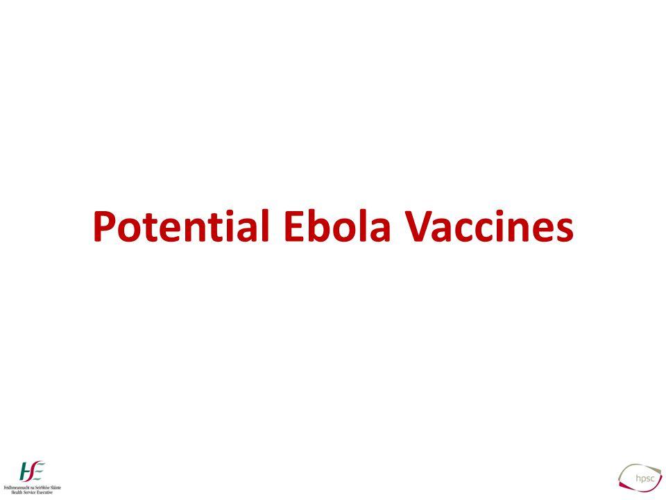 Potential Ebola Vaccines