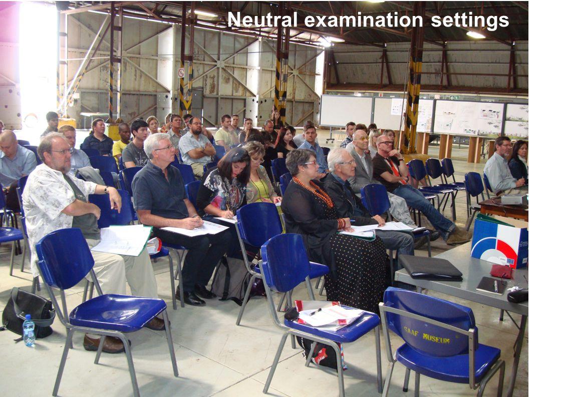 Neutral examination settings