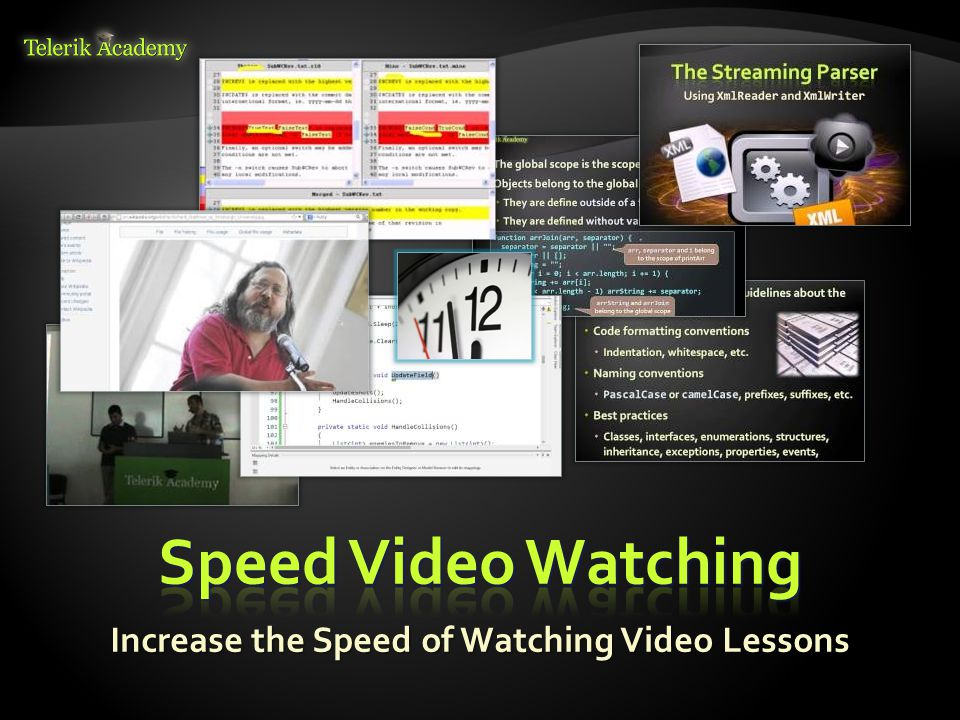 Increase the Speed of Watching Video Lessons