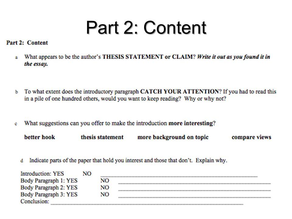 Part 2: Content